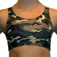 GemGear Green Camouflage Printed Sports Bra [gem] - $18.99 : Texas Rip It Sports