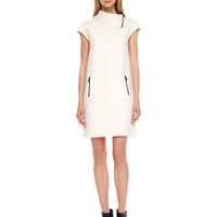 Michael Kors Contrast-Zipper Shift Dress