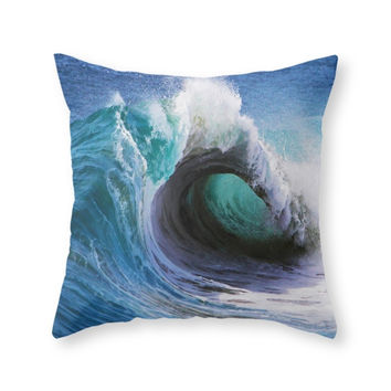 Society6 Wedge Barrel Throw Pillow