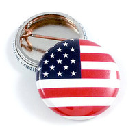 American Flag 1 Inch Pinback Button