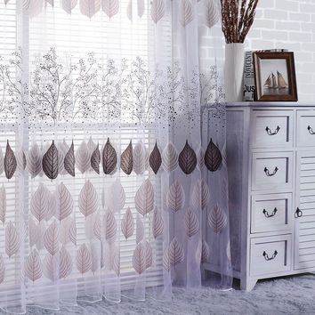 Tulle Window Screening Sheer Scarf Valance Gauze Curtain for Cafe Kitchen Living Room Translucidus Voile Curtains Home Decor
