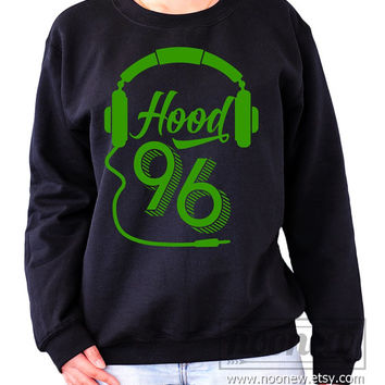 Hood 96 Sweatshirt Sweater Crew neck Shirt – Size S M L XL