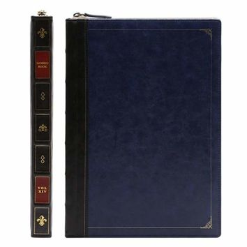 Leather Hardback Book Laptop Disguise Sleeve Cover Case for MacBook