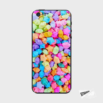 Rainbow Origami Stars iPhone 5 / 5S iPhone 4 / 4S Galaxy S3 / S4 Nexus 5 Nokia Lumia Skin Cover Decal Sticker