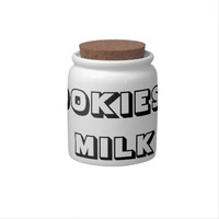 COOKIES AND MILK COOKIE JAR