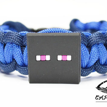 Mine Craft Bracelet, Enderman Bracelet, Mine Craft Jewelry, Enderman Jewelry, Custom Mine Craft Bracelet, Mine Craft Paracord Bracelet