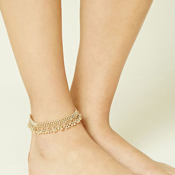 Fringed Ball Chain Anklet
