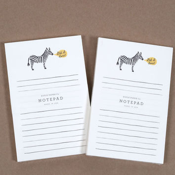 Rifle Paper Co. Notepad Zebra