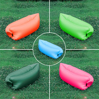 Portable Lounger Foldable Lazy Lay Bag Green Pink Blue Red Fast Air Inflation Customize Logo Outdoor Swimming Pool Beach Recess
