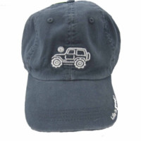 """Life is Good Chill Cap - White Ride on """"True Blue"""" Hat"""