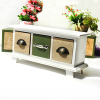 Wooden Green Storage Box Decoration Accessory Box [6282986118]