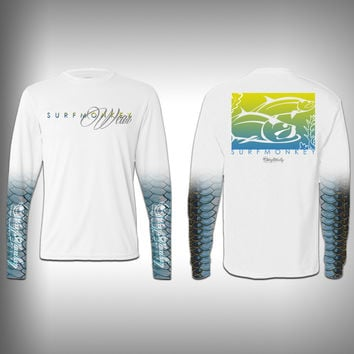 Tarpon Scale Sleeve Shirt -  SurfMonkey - Performance Shirts - Fishing Shirt
