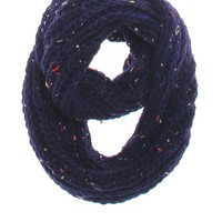 With Love From CA Confetti Knit Infinity Scarf - Womens Scarves - Blue - One
