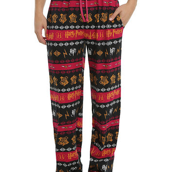 Harry Potter Hogwarts Logo Guys Pajama Pant