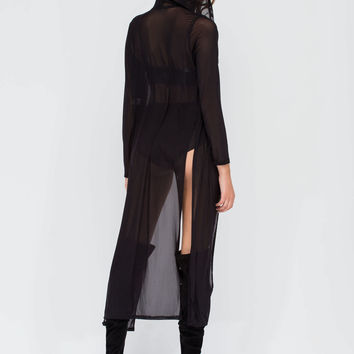 Delicate Touch Long Mesh Jacket