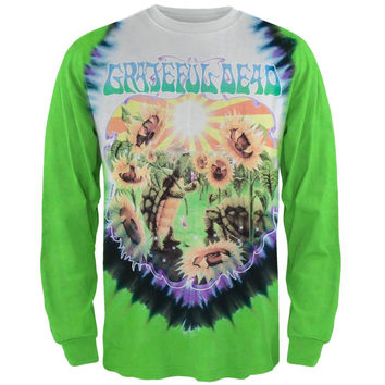 Grateful Dead - Sunflower Terrapin Tie Dye Long Sleeve T-Shirt