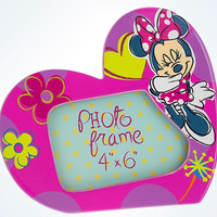"Disney Parks Minnie Mouse Heart Dolomite 4""x6"" Picture Photo Frame New"