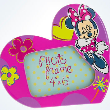 """Disney Parks Minnie Mouse Heart Dolomite 4""""x6"""" Picture Photo Frame New"""
