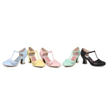 Ellie Shoes E-BP254-Lucy 2.5 inch Women's  T Strap Heel Pump