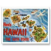 Greetings from Hawaii HI Post Cards