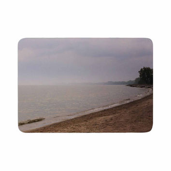 "Angie Turner ""Along The Coast"" Blue Gray Memory Foam Bath Mat"