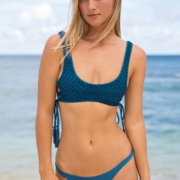ACACIA Swimwear 2018 Hunter Crochet Top in Salt Water