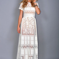 Edwardian Prairie Martha Boho Maxi Dress