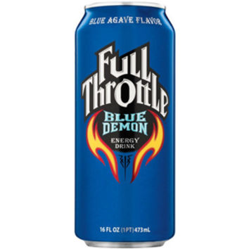 Full Throttle Blue Agave Energy Drink 16 oz Cans - Case of 24