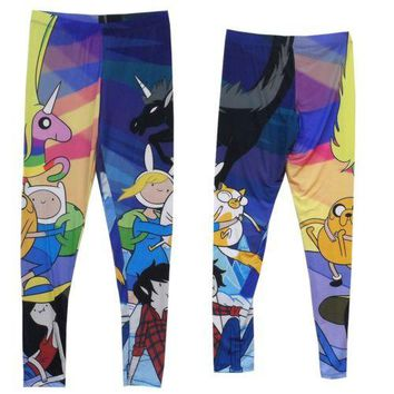 Adventure Time Characters Finn And Jake Cast Leggings