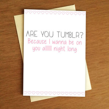 Tumblr Naughty Valentine Card PDF
