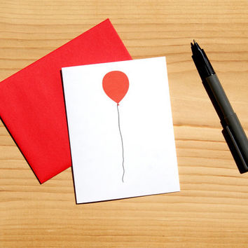 Balloon Art Card - Bold Graphic Design - Blank Card - FREE SHIPPING