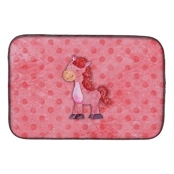 Polkadot Horse Watercolor Dish Drying Mat BB7379DDM