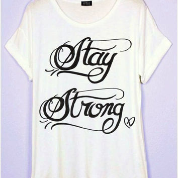 Demi Lovato Stay Strong Tattoo T-Shirt