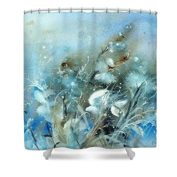 Whimsical Wild Grass Shower Curtain