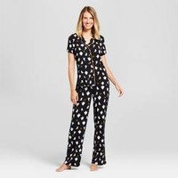 Nite Nite Munki Munki® Women's Ghost Pajama Set - Black