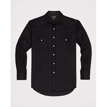 Pendleton - Men's Fitted Solid Canyon Black Flannel Shirt