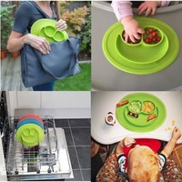 Baby Silicone Food Placemat,Cheaboom Baby Silicone Food Tray Babies Placemat Pla