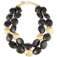 Ashley Pittman Burudani Two-Strand Necklace, Black