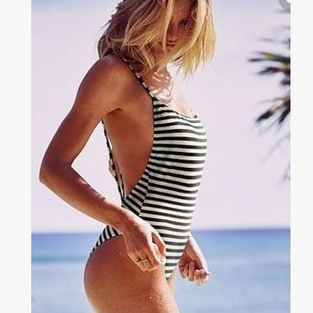 Swimsuit Sexy New Arrival Beach Summer Hot Stripes Print Swimwear Bikini [7831899207]