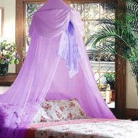 Purple Chiffon Furbelow Princess Bed Canopy By SID by Sid Trading