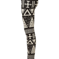 Large Aztec Knitted Leggings - Topshop USA