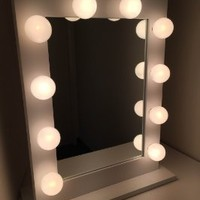 Impressions Vanity Hollywood Studio Lighted Make-Up Vanity Back Stage Mirror, White, X-Large