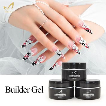 Clear Nude Color Cheap UV Builder Gel 15ml Soak Off Camouflage Nail Gel Polish Nail Art Extension For French Gel Salon