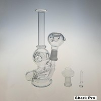 Recycler Alien Glass Bong With Bowl And Oil Rig Glass Dome Glass Nail 14.5mm Perfect Glass Hookahs