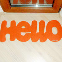 Hello door mat. Greetings in your entry.