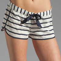 Juicy Couture Stripe Lace Short in Angel/Regal from REVOLVEclothing.com