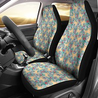 Golden Retriever Flower Car Seat Covers