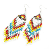 Colorful Bohemian Style All-matching Gorgeous Beaded Tassel Earring Drop Dangle Earring, Birthday Gifts Party Jewlry, Fashion Jewlry 8092688