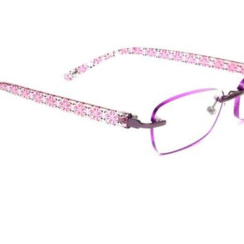 Womens | Reading Glasses | Foster Grant | Daniella | Purple Floral Pattern