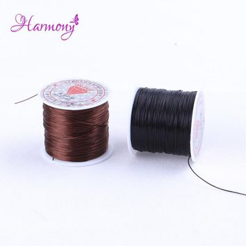 Free Shipping 2Roll/lot 11m Stretch Elastic Crystal String Cord Thread for Weaving Hair & Making Jewelry Bracelets Beading